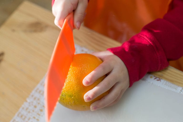 Cutting an Orange
